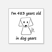 69 Dog Years 6-2 Sticker