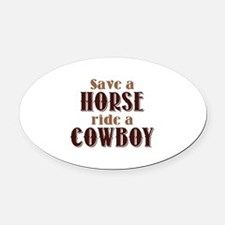 Save A Horse Oval Car Magnet