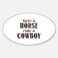 Save A Horse Sticker (Oval)