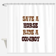 Save A Horse Shower Curtain