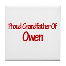 Proud Grandfather of Owen Tile Coaster