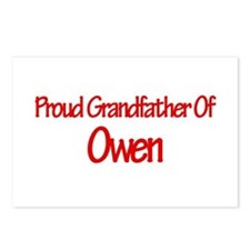 Proud Grandfather of Owen Postcards (Package of 8)