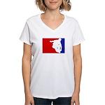 Major League Inline Skating Women's V-Neck T-Shirt
