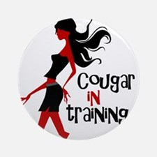 Cougar in Training Ornament (Round)