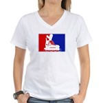 Major League Inline Skating  Women's V-Neck T-Shir
