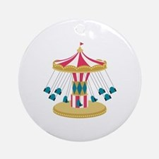 Carnival Swings Round Ornament