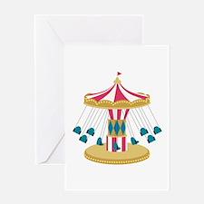 Carnival Swings Greeting Cards