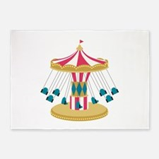 Carnival Swings 5'x7'Area Rug