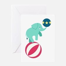 Circus Elephant Greeting Cards