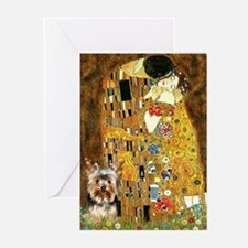 The Kiss by Klimpt & Yorkie 1 Greeting Cards (Pack