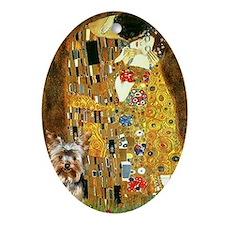 The Kiss by Klimpt & Yorkie 1 Keepsake (Oval)