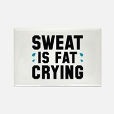 Sweat Is Fat Crying Rectangle Magnet