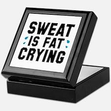 Sweat Is Fat Crying Keepsake Box