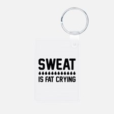 Sweat Is Fat Crying Keychains
