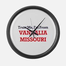 Trust Me, I'm from Vandalia Misso Large Wall Clock