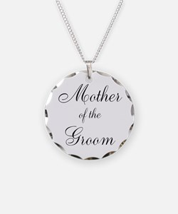 Mother of the Groom Black Script Necklace