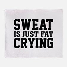 Sweat Is Just Fat Crying Stadium Blanket