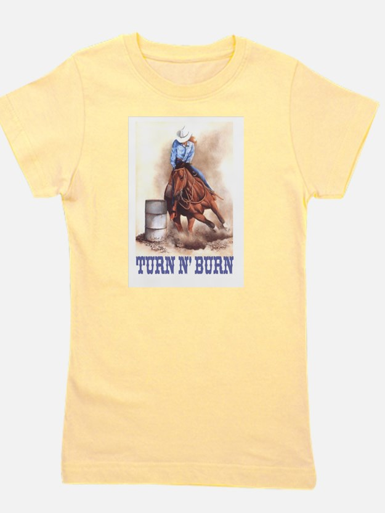 Cute Quarter horse racing Girl's Tee
