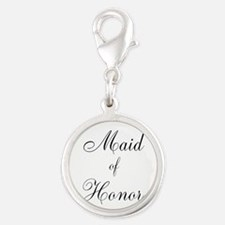 Maid of Honor Black Script Charms