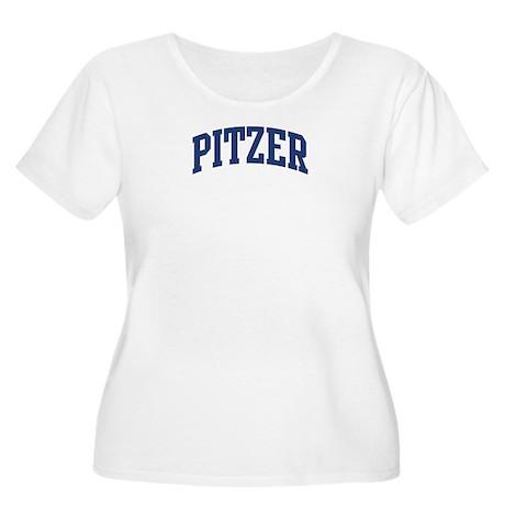 PITZER design (blue) Women's Plus Size Scoop Neck