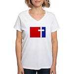 Major League Christianity Women's V-Neck T-Shirt