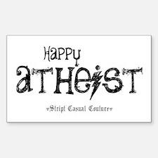 Happy Atheist Rectangle Decal