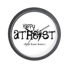 Happy Atheist Wall Clock