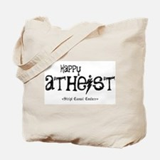 Happy Atheist Tote Bag