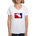 Major League Bullriding Women's V-Neck T-Shirt