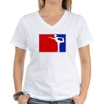 Major League Ballerina Women's V-Neck T-Shirt
