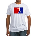 Major League Ballerina  Fitted T-Shirt