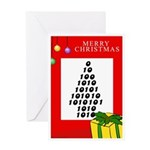 CHRISTMAS NUMBER TREE Greeting Card