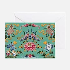 Dogs on card-hidden Greeting Card