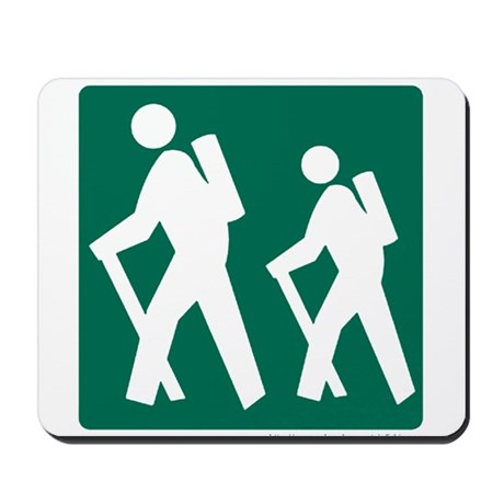 Hiking Sign Mousepad