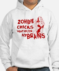 Cute Zombies love me for my extra brains Jumper Hoody