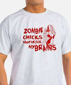 Cute Zombies love me for my extra brains T-Shirt