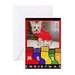 YORKIE CHRISTMAS Greeting Card