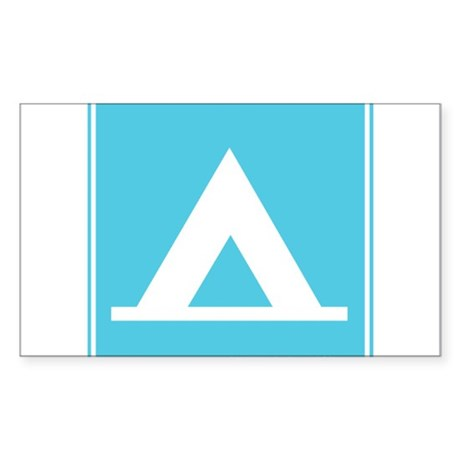 Camping Sign Rectangle Sticker