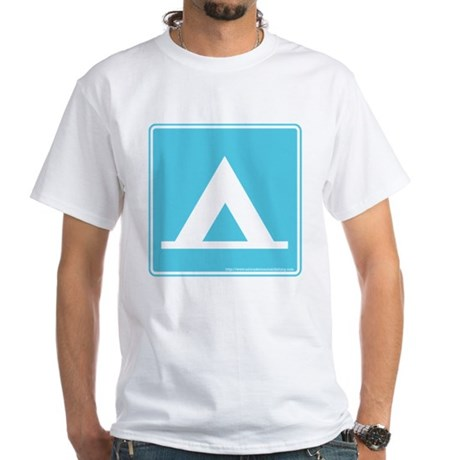 Camping Sign White T-Shirt