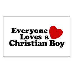 Christian Boy Rectangle Decal