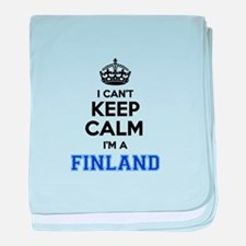 I can't keep calm Im FINLAND baby blanket