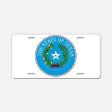 Texas State Seal Aluminum License Plate