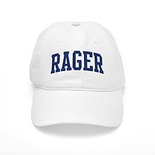 RAGER design (blue) Baseball Cap