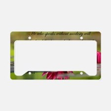Cute Buddha quote License Plate Holder
