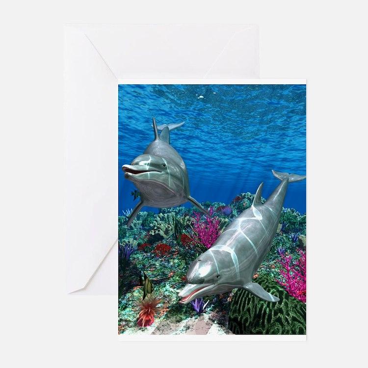 oceanworld_368_V_F Greeting Cards