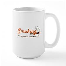 Smoking Fascism White Shirt Mugs