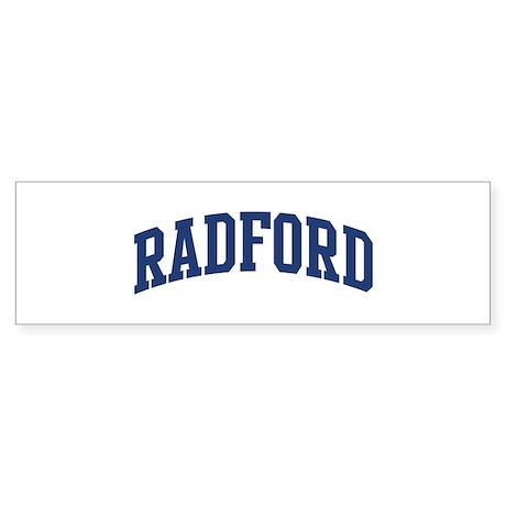 RADFORD design (blue) Bumper Sticker