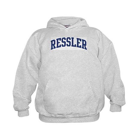 RESSLER design (blue) Kids Hoodie