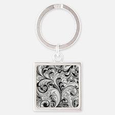Cute Ornamental Square Keychain