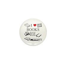 I (heart) Books Mini Button (10 pack)